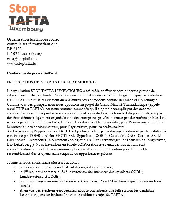 Capture StopTafta Luxembourg conf de presse
