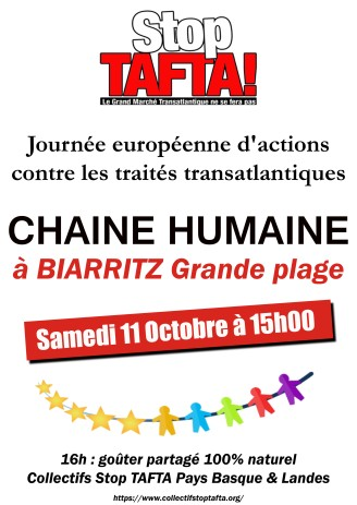 11 octobre Biarritz affiche chaine humaine