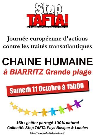 11 octobre Biarritz affiche chaine humaine