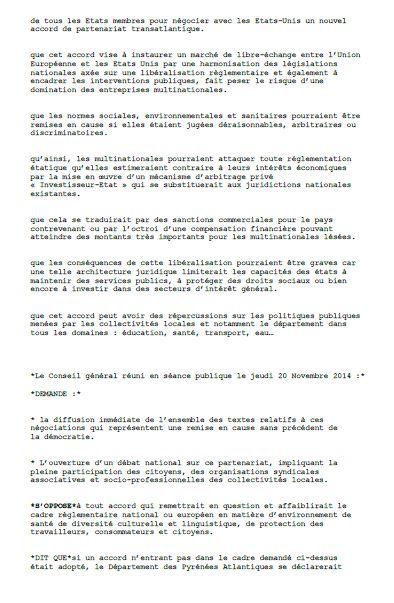 département 64 motion tafta 2