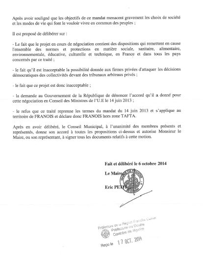 Franois motion tafta 2