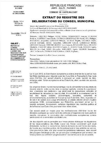 Castelnaudary motion Tafta 1