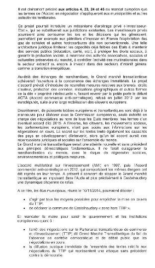 Castelnaudary motion Tafta 2