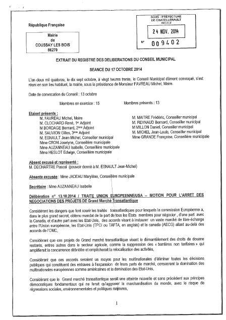 Coussay les Bois 86 motion tafta 1
