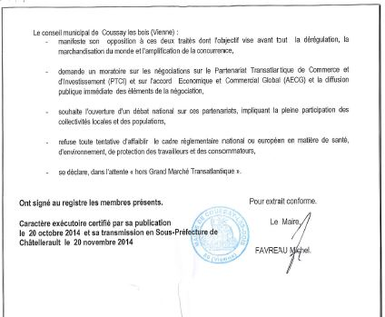 Coussay les Bois 86 motion tafta 2