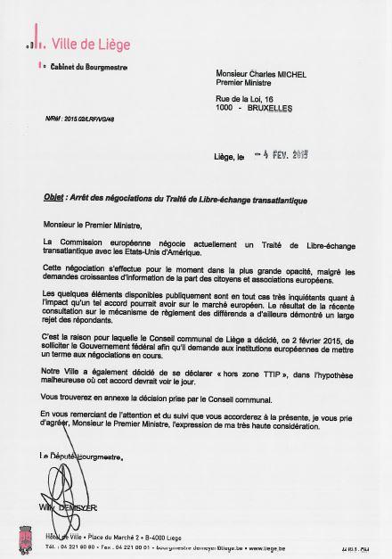 liege belgique courrier 1er mministre