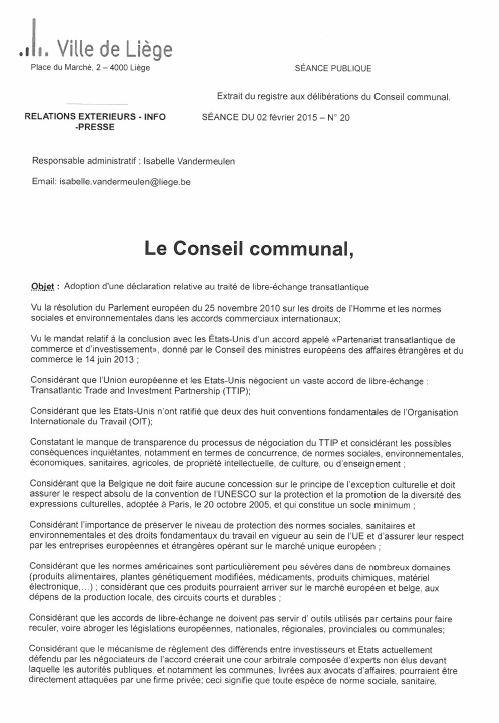liege belgique motion tafta 1