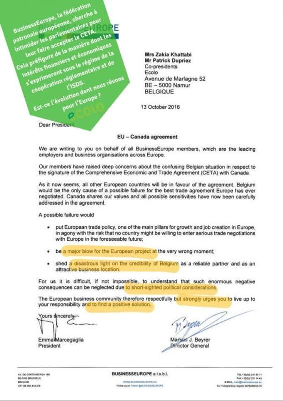 businesseurope-lettre-pro-ceta-13-10-2016